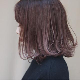 イルミナカラー オルチャン ナチュラル ピンク ヘアスタイルや髪型の写真・画像