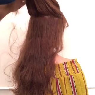 アウトドア ガーリー リラックス デート ヘアスタイルや髪型の写真・画像