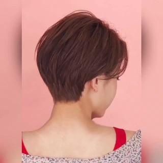 ショート パーマ 大人可愛い ナチュラル ヘアスタイルや髪型の写真・画像 ヘアスタイルや髪型の写真・画像