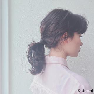 ヘアアレンジ ルーズ 夏 フェミニン ヘアスタイルや髪型の写真・画像