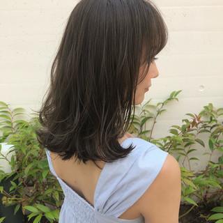 セミロング ナチュラル デート ヘアアレンジ ヘアスタイルや髪型の写真・画像