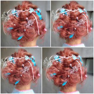 ヘアアレンジ ハーフアップ 簡単ヘアアレンジ フェミニン ヘアスタイルや髪型の写真・画像