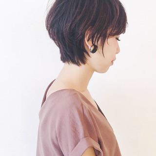 ラベンダーピンク ショート ピンク ショートボブ ヘアスタイルや髪型の写真・画像