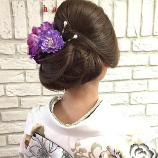 和装 アップスタイル 成人式 ロング ヘアスタイルや髪型の写真・画像