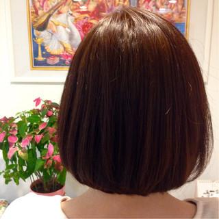 サラサラ 簡単 ストレート ボブ ヘアスタイルや髪型の写真・画像