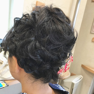 花火大会 夏 色気 ナチュラル ヘアスタイルや髪型の写真・画像 ヘアスタイルや髪型の写真・画像