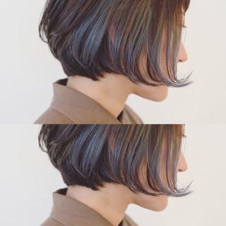 インナーカラー モード ボブ 冬 ヘアスタイルや髪型の写真・画像 ヘアスタイルや髪型の写真・画像