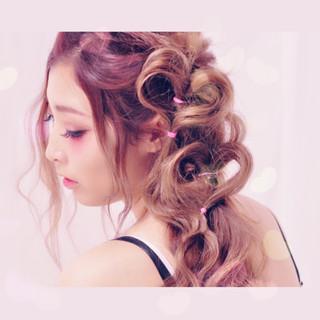 ピュア フェミニン ショート ヘアアレンジ ヘアスタイルや髪型の写真・画像