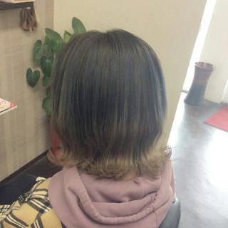 グラデーションカラー アッシュグラデーション グラデーションボブ ボブ ヘアスタイルや髪型の写真・画像