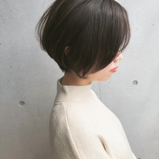 ショート ナチュラル ショートボブ ミニボブ ヘアスタイルや髪型の写真・画像