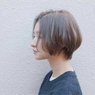 ラフ 簡単 抜け感 ショートボブ ヘアスタイルや髪型の写真・画像