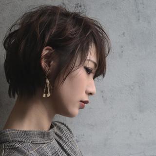 大人かわいい ショート ナチュラル ショートパーマ ヘアスタイルや髪型の写真・画像   瀬川 敏明 / TELA