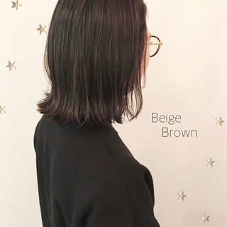 ボブ ミディアム ストリート 切りっぱなし ヘアスタイルや髪型の写真・画像
