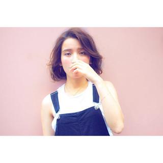 ピュア パーマ グラデーションカラー ガーリー ヘアスタイルや髪型の写真・画像