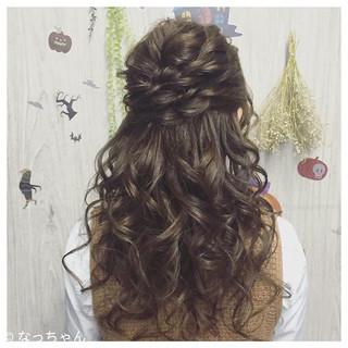 ハーフアップ ヘアアレンジ 結婚式 ロング ヘアスタイルや髪型の写真・画像