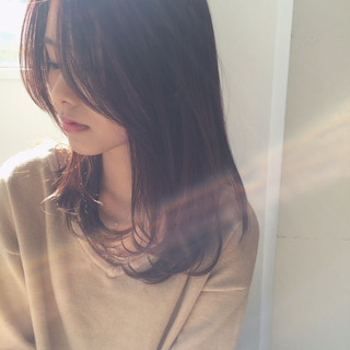 デート 大人女子 ニュアンス セミロング ヘアスタイルや髪型の写真・画像
