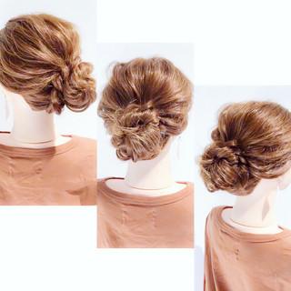 ヘアアレンジ お団子アレンジ フェミニン ロング ヘアスタイルや髪型の写真・画像