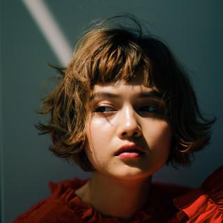 阿藤俊也 フェミニン ボブ PEEK-A-BOO ヘアスタイルや髪型の写真・画像