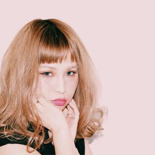 パーティ オフィス パーマ セミロング ヘアスタイルや髪型の写真・画像