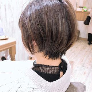 ナチュラル ミニボブ ショートヘア ショートボブ ヘアスタイルや髪型の写真・画像