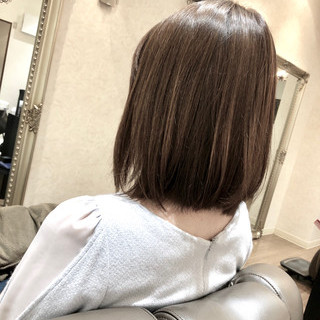 ロブ 大人女子 オフィス ボブ ヘアスタイルや髪型の写真・画像