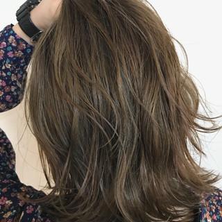 秋 透明感 ハイライト ナチュラル ヘアスタイルや髪型の写真・画像