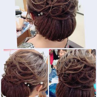 シニヨン 上品 着物 エレガント ヘアスタイルや髪型の写真・画像