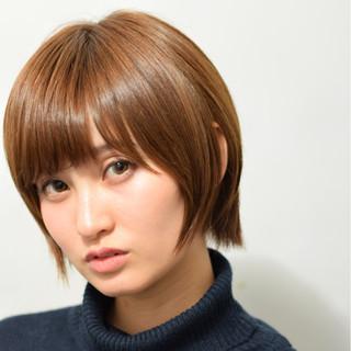 小顔 ショート ショートボブ ナチュラル ヘアスタイルや髪型の写真・画像