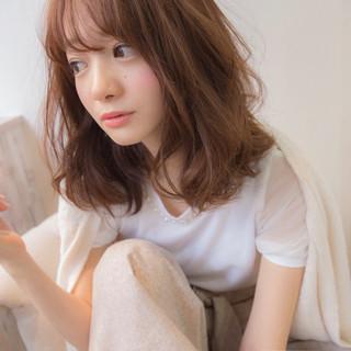 大人女子 こなれ感 かわいい ミルクティー ヘアスタイルや髪型の写真・画像
