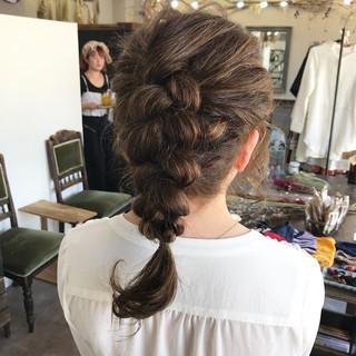 ガーリー ミディアム ショート 簡単ヘアアレンジ ヘアスタイルや髪型の写真・画像