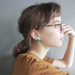 ロング フレンチセピアアッシュ 前髪あり ナチュラル ヘアスタイルや髪型の写真・画像 ヘアスタイルや髪型の写真・画像