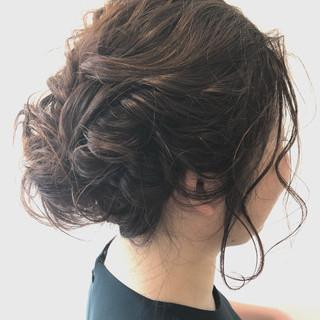結婚式 フェミニン ミディアム 透明感 ヘアスタイルや髪型の写真・画像