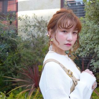 ヘアアレンジ ミディアム デート 簡単ヘアアレンジ ヘアスタイルや髪型の写真・画像 ヘアスタイルや髪型の写真・画像