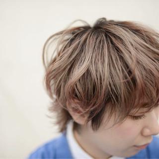 ハイライト 外国人風 冬 ハイトーン ヘアスタイルや髪型の写真・画像
