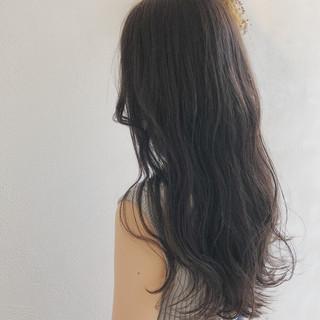 表参道 フェミニン 外国人風 グレージュ ヘアスタイルや髪型の写真・画像