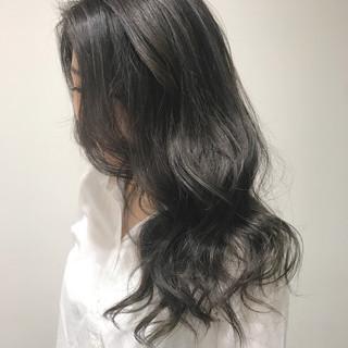 ダークアッシュ ナチュラル 暗髪 グレージュ ヘアスタイルや髪型の写真・画像
