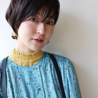 暗髪 大人女子 色気 夏 ヘアスタイルや髪型の写真・画像