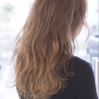 大人女子 セミロング ストリート グラデーションカラー ヘアスタイルや髪型の写真・画像