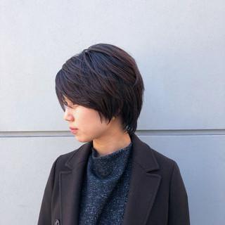 レイヤーカット ハンサムショート ナチュラル ショート ヘアスタイルや髪型の写真・画像