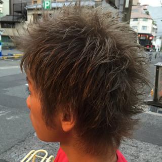 外国人風 パーマ ショート メンズ ヘアスタイルや髪型の写真・画像