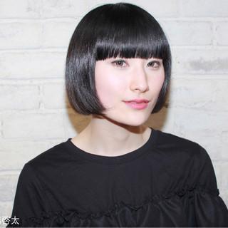 色気 ボブ 抜け感 黒髪 ヘアスタイルや髪型の写真・画像