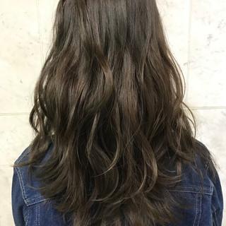 ウェーブ アンニュイ セミロング ハイライト ヘアスタイルや髪型の写真・画像