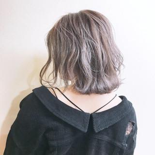 外国人風カラー グレージュ ハイライト モード ヘアスタイルや髪型の写真・画像