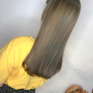 ナチュラル 3Dハイライト アッシュバイオレット ブルーバイオレット ヘアスタイルや髪型の写真・画像