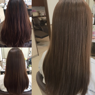 ナチュラル セミロング 透明感 マット ヘアスタイルや髪型の写真・画像 ヘアスタイルや髪型の写真・画像