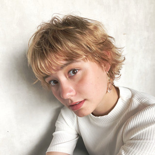 ウルフカット ベリーショート ミニボブ ショートボブ ヘアスタイルや髪型の写真・画像