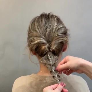 オフィス ヘアアレンジ アウトドア ロング ヘアスタイルや髪型の写真・画像