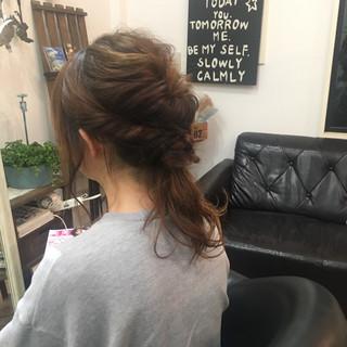ショート 簡単ヘアアレンジ セミロング 大人女子 ヘアスタイルや髪型の写真・画像