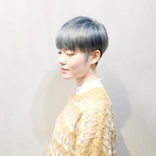 パープルアッシュ ショート ショートヘア ピンクアッシュ ヘアスタイルや髪型の写真・画像