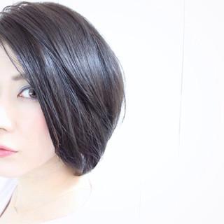色気 ナチュラル ボブ 暗髪 ヘアスタイルや髪型の写真・画像